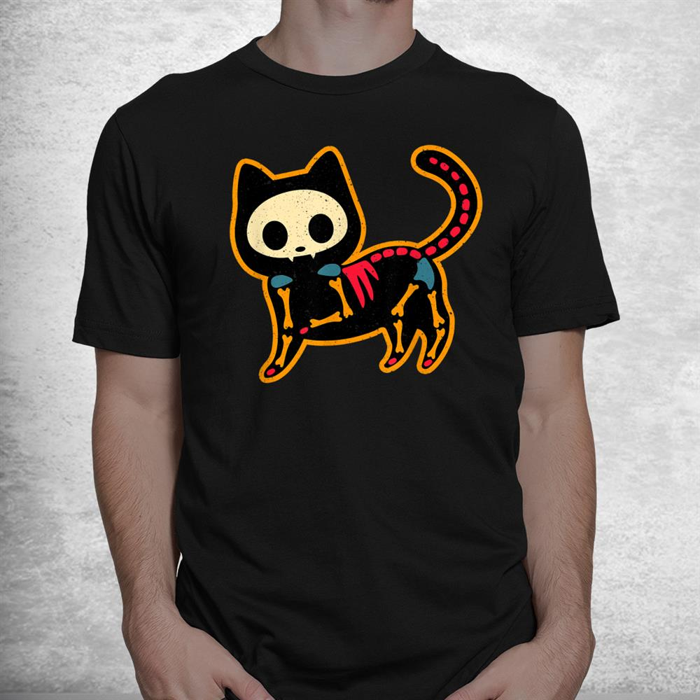 Traditional Day Of The Dead Mexico Sugar Skull Cat Halloween Shirt