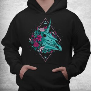 unicorn skullvaporwave halloween shirt 3