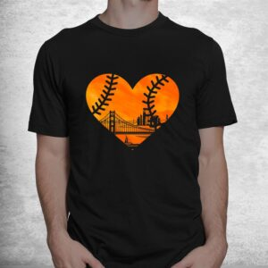 us state san francisco baseball vintage heart shirt 1