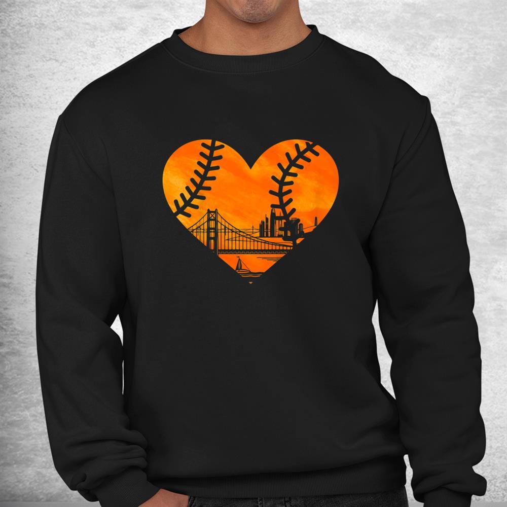Us State San Francisco Baseball Vintage Heart Shirt