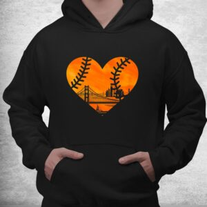 us state san francisco baseball vintage heart shirt 3