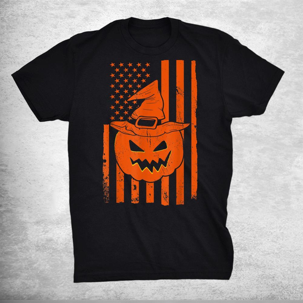 Usa Flag Pumpkin Patriotic Pumpkin Lover Patriot Halloween Shirt