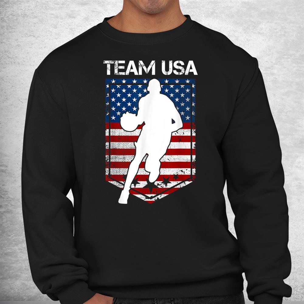 Usa United States Of America Basketball Team 2021 White Logo Shirt