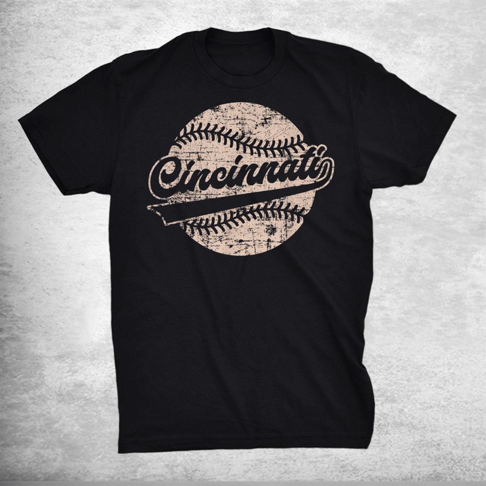Vintage Cincinnati Distressed Retro Script Shirt