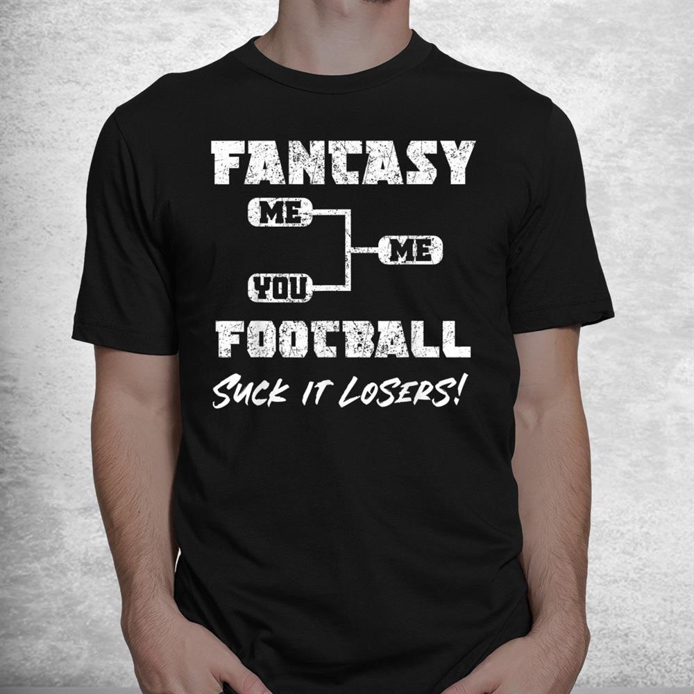 Vintage Fantasy Football Draft Party Kit Funny Sports Winner Shirt