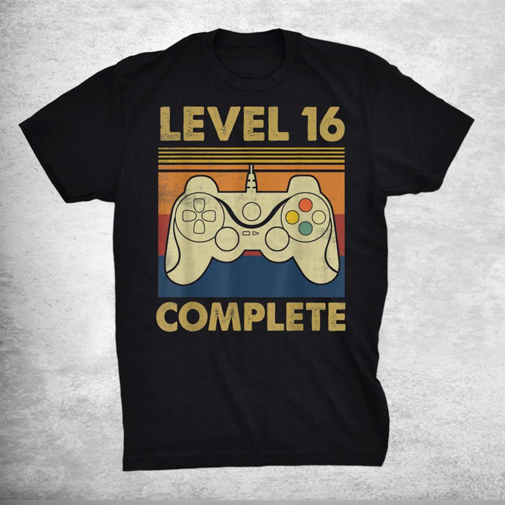Vintage Level 16 Complete Shirt 16th Wedding Anniversary Shirt