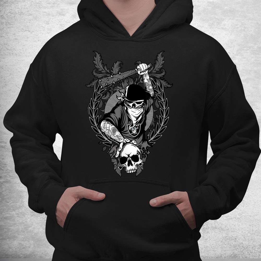 Vintage Raiders Hip Hop Skull Gang Football Shirt