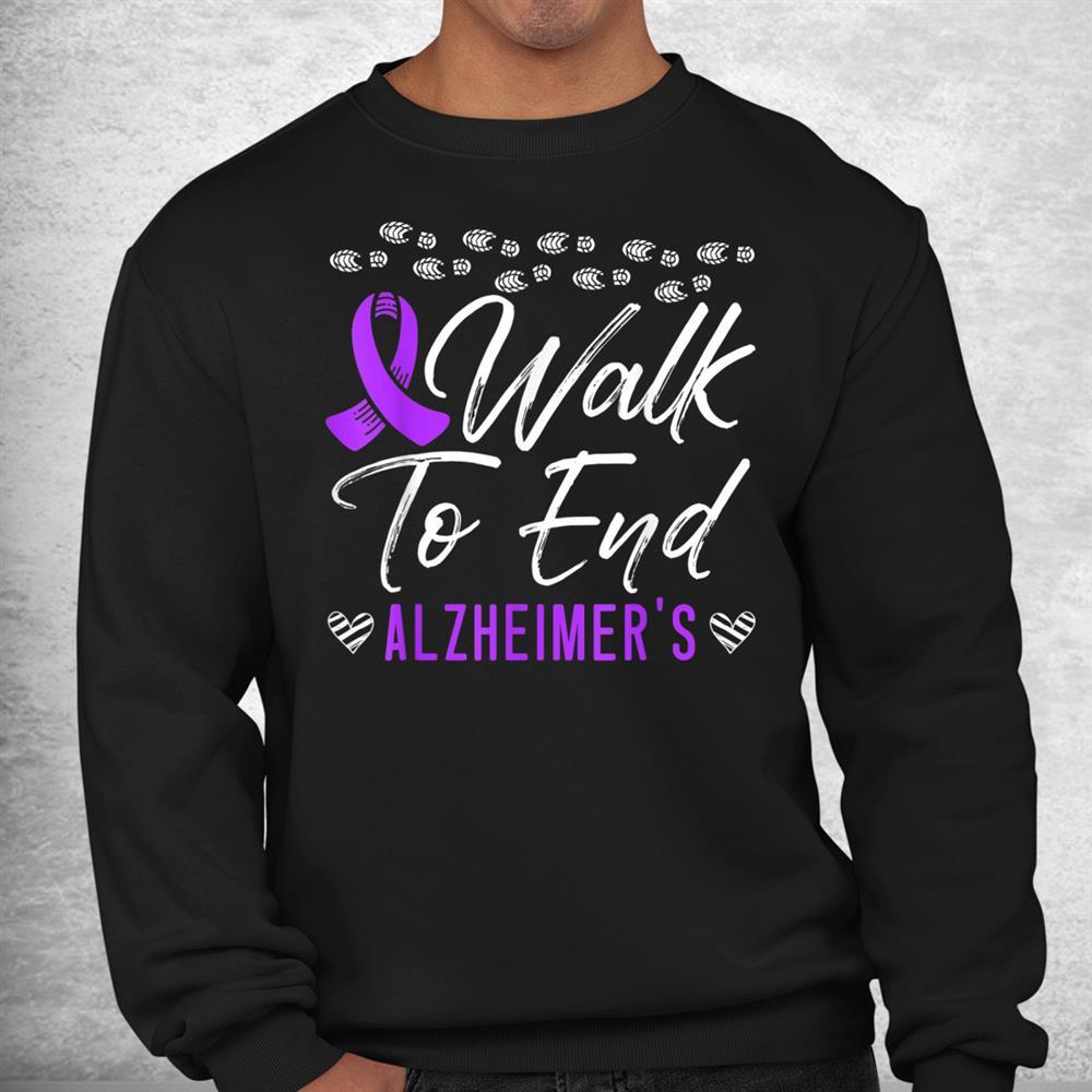 Walk To End Alzheimers Disease Dementia I Wear Purple Shirt