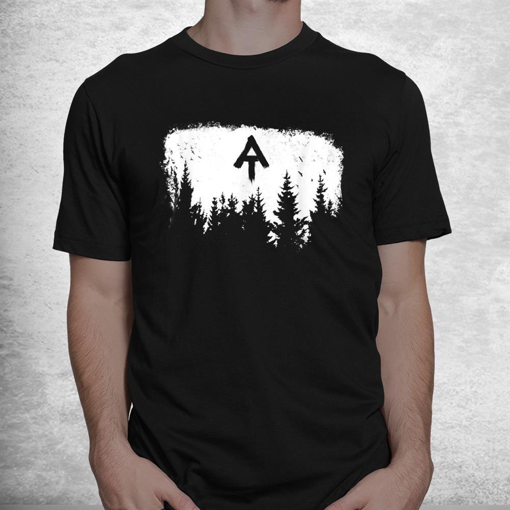 White Blaze Appalachian At Trail Minimalist Pine Tree Hike Shirt