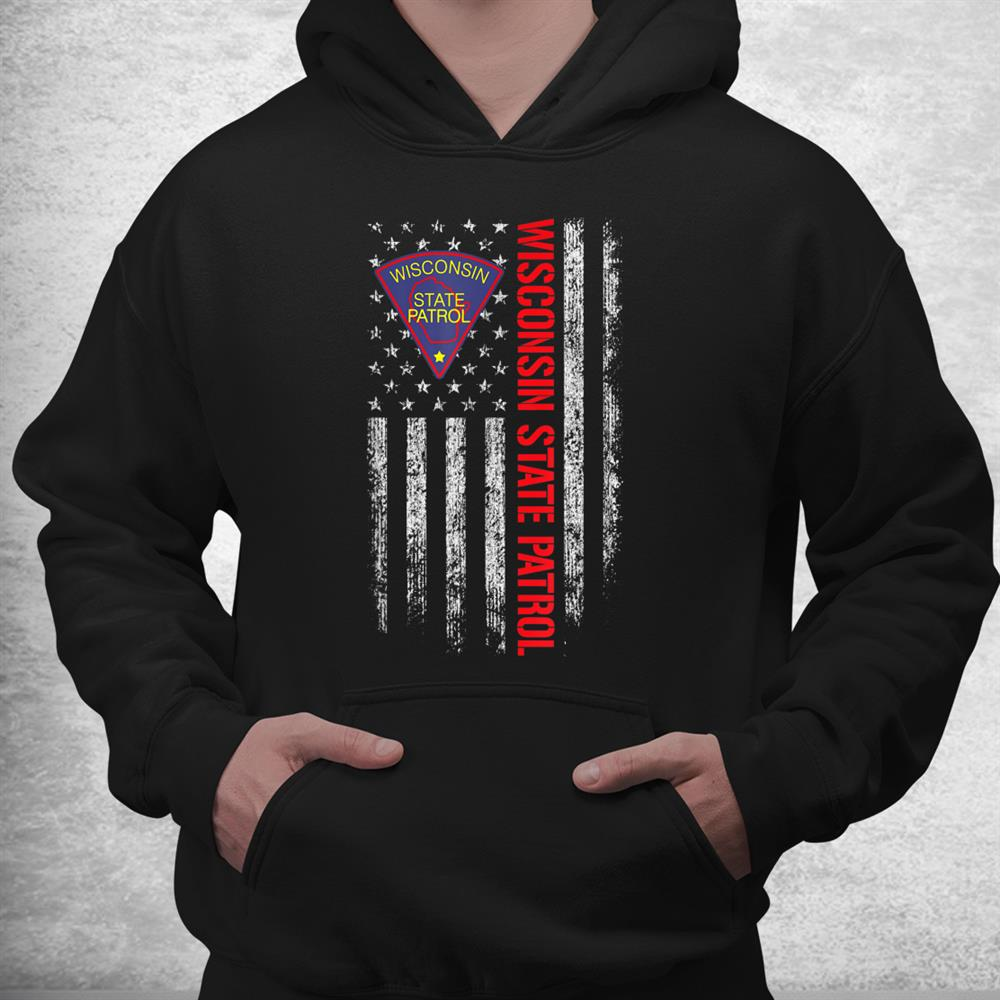 Wisconsin State Patrol American Flag Shirt